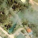 Satellite image of Capilay Spring Park in San Juan, Siquijor