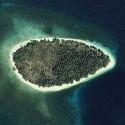 Satellite image of Potipot Island in Candelaria, Zambales