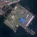 Satellite image of the fish port at Brgy. Dalahican, Lucena City
