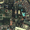 Satellite image of the Rainforest Park in Pasig City