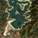 Satellite image of San Roque Dam taken on April 3, 2010