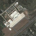 Satellite view image of Francisco Bangoy International Airport (aka Davao International Airport) in Davao City.