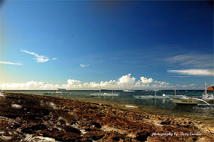 Photo of the seashore at Pamilacan Island