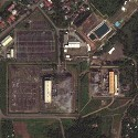 Satellite image of one facility of the Mak-Ban Geothermal Power Plant in Bay, Laguna