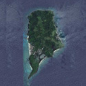 Satellite image of Apo Island in Dauis, Negros Oriental