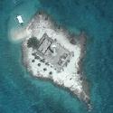Satellite image of Capitancillo Islet in Bogo, Cebu