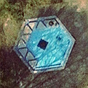 Satellite image of the Rizal Monument in Wilhelmsfeld, Germany