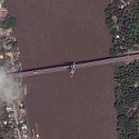 Satellite image of the Diosdado Macapagal Bridge in Butuan.
