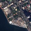 Satellite image of the main compound of the U.S. Embassy in Ermita, Manila