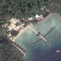 Satellite image of Miniloc Island Resort in El Nido, Palawan