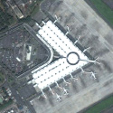 Satellite view image of the Centennial Terminal of Ninoy Aquino International Airport in Parañaque City.