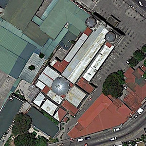 Satellite image of the Holy Rosary Parish Church in Angeles, Pampanga.