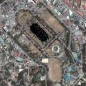 Satellite view image of Burnham Park in Baguio City.