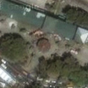 Satellite view image of Magellan&#039;s Cross in Cebu City.