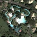 Satellite view image of the water park in Fontana Leisure Park in Clark SEZ.